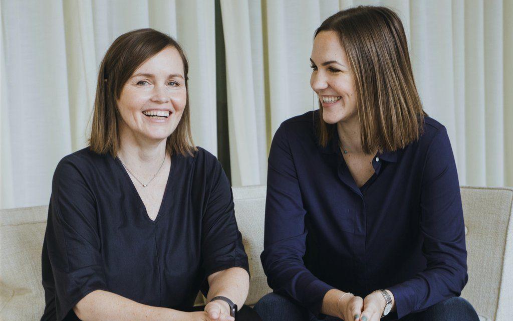 Simris founder Fredrika Gullfot and daughter Daphne Jaeschke